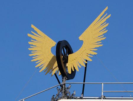 Oud logo NS Gevleugeld-Wiel-Amsterdam CS-73