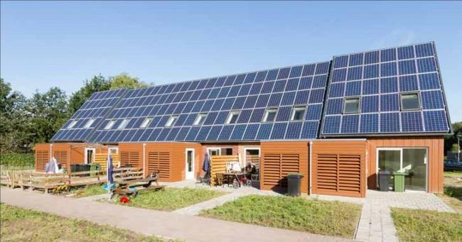 Nulenergie- of plusenergiewoningen, hier een project in Aa en Hun (niet van bureau de Vos)